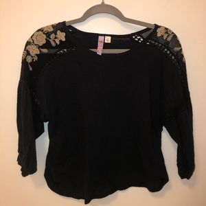 Free People 3/4 Sleeve with Shoulder Detail